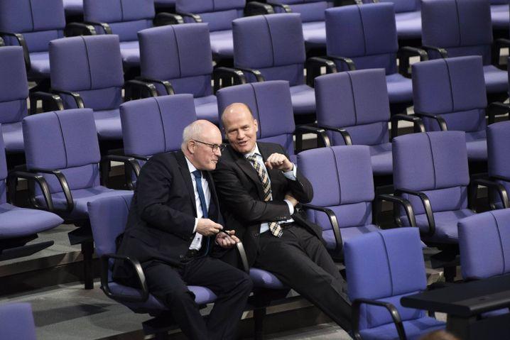Kauder und sein Nachfolger an der Fraktionsspitze, Ralph Brinkhaus