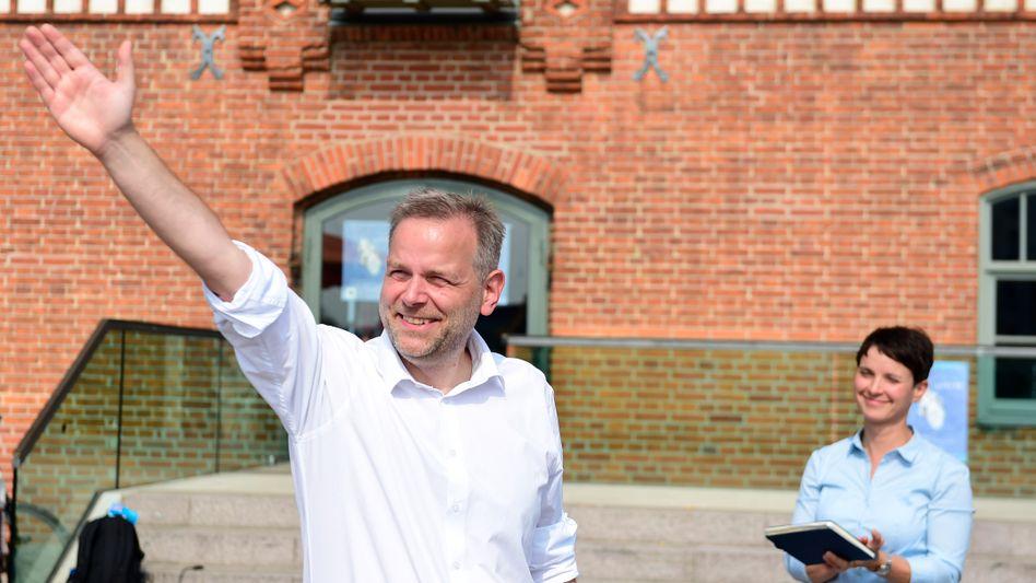 Spitzenkandidat Holm, Parteichefin Petry