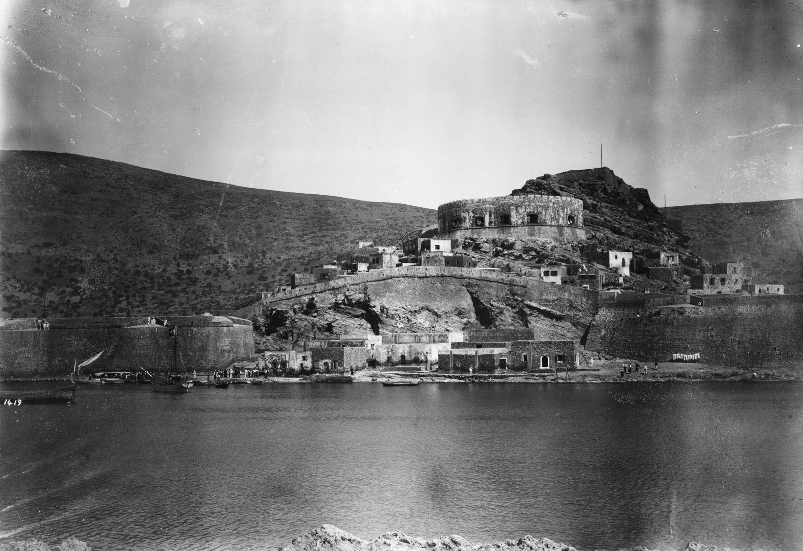 Spinalonga, Ansicht / Foto um 1900