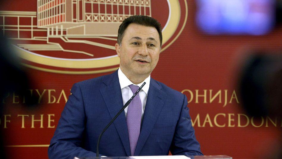 Mazedoniens Premier Gruevski: Soll Mitte Januar zurücktreten