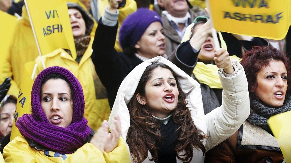 Aschraf-Unterstützer in Brüssel