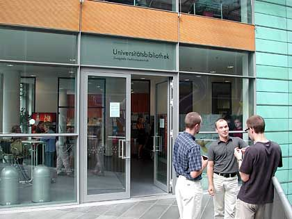 Wird bereits mit Kameras überwacht: Die Leipziger Bibliothek