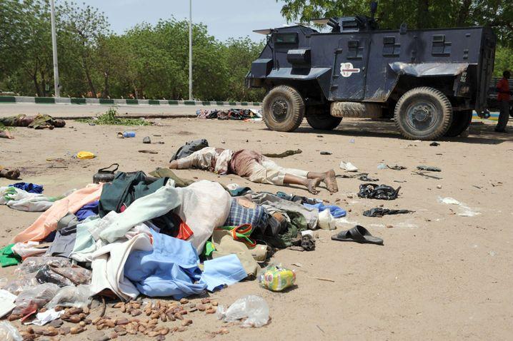 """Tote nigerianische """"Taliban"""": Hunderte Menschen sind bei den Kämpfen gestorben"""