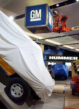 GM-Stand auf der Motorshow in Detroit: Unzeitgemäße Produkte, angeschlagene Marke