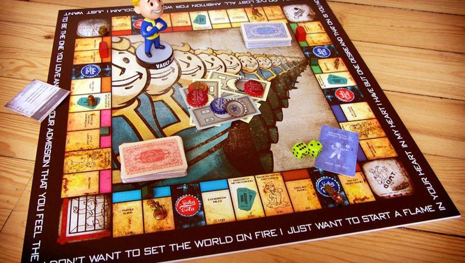 """""""Gipfel der Coolness"""": Blick auf das Fallout-Monopoly von Elisabeth Redel"""
