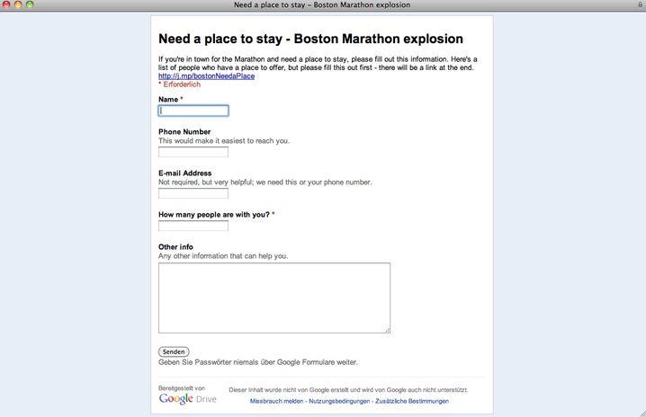 Need a place to stay: Unterkünfte suchen und anbieten per Google Docs