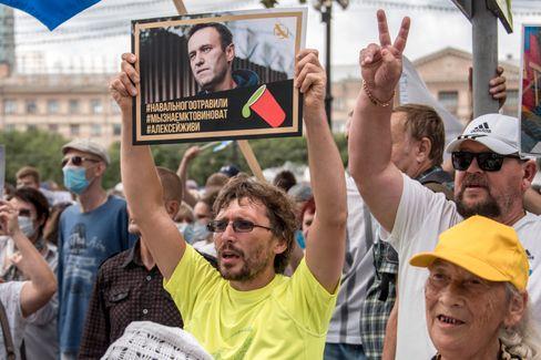 """Unterstützer von Nawalny bei Demo: """"Wir wissen, wer schuld ist"""""""
