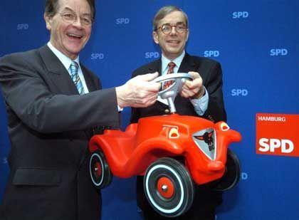 SPD-Spitzenkandidat Mirow mit Bobby-Car: Vollkommen daneben