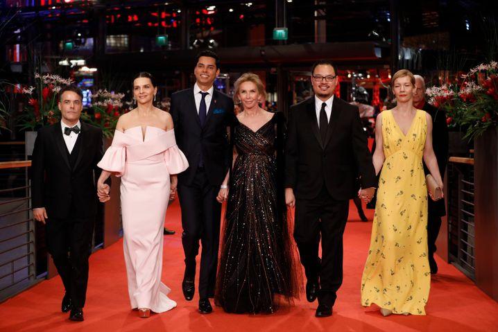 Die Jury der 69. Berlinale, Vorsitzende war die französische Schauspielerin Juliette Binoche (2. v. l.)