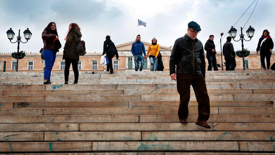 Syntagma-Platz in Athen: Schwindel im gegenseitigen Einvernehmen