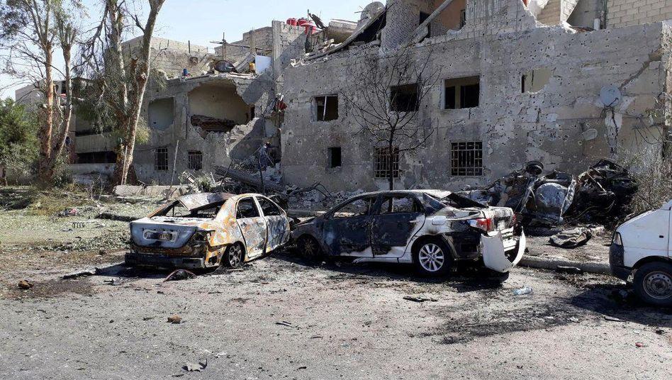 Selbstmordanschlag mit Autobombe in Damaskus