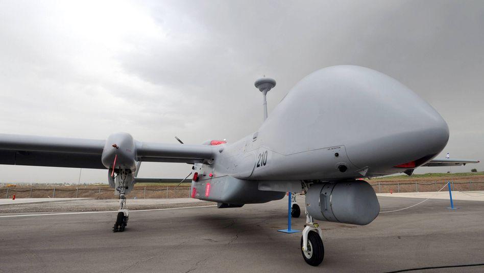 """Der unbemannte Flieger """"Heron TP"""": Das Vorgängermodell """"Heron 1"""" wurde für den Afghanistan-Einsatz gemietet"""
