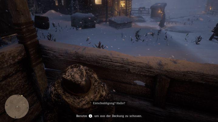 """Steuerbefehl in """"Red Dead Redemption II"""" (hier zur Abwechslung mal unten in der Mitte)"""