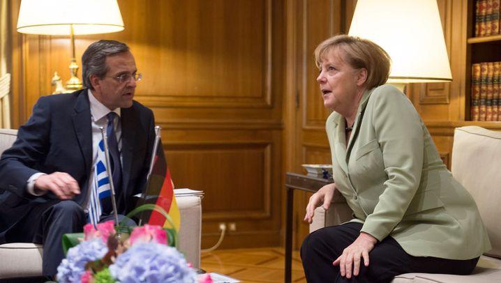 Merkel in Athen: Schwierige Blitzvisite