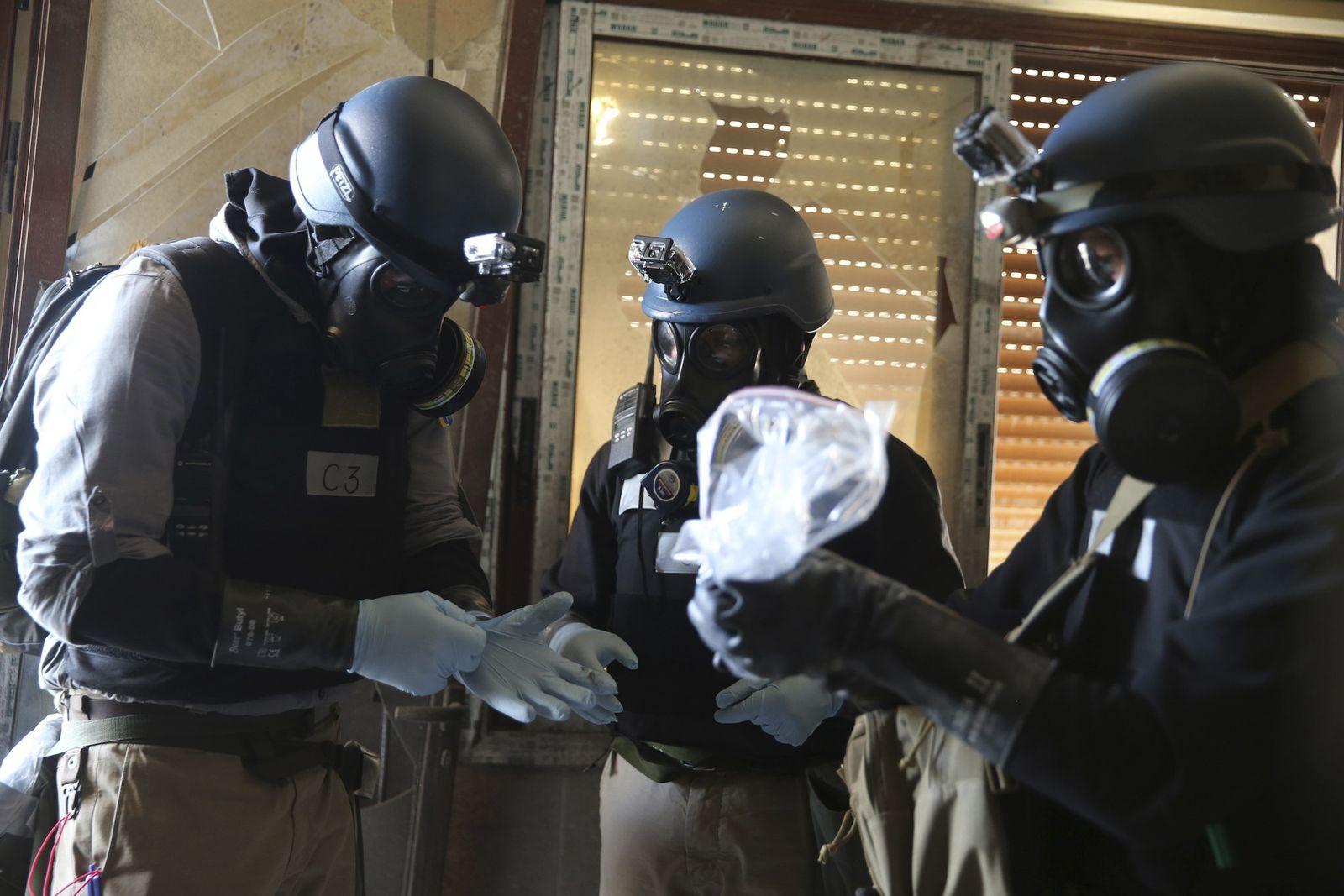 Syrien / Chemiewaffen / UN-Inspektoren