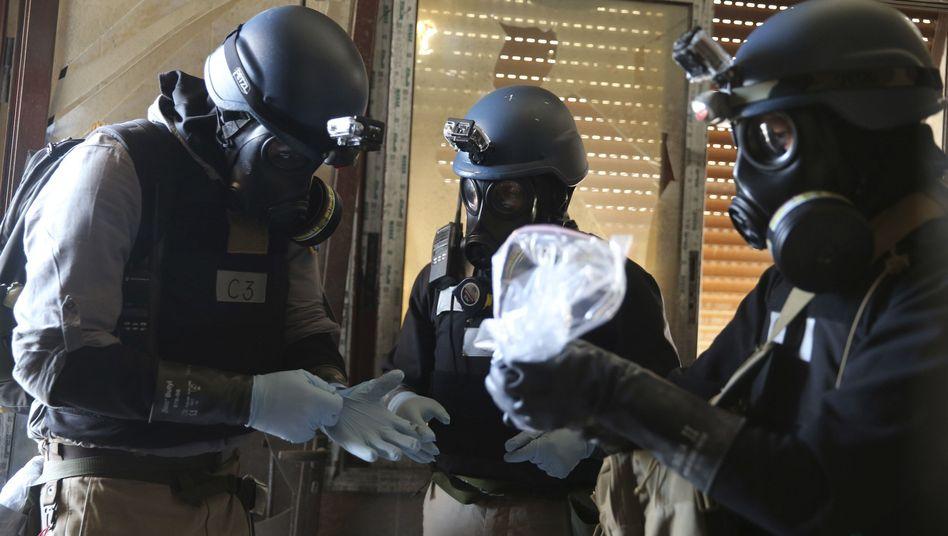 Uno-Inspektoren in Syrien: Das Land besitzt eines der weltweit größten Chemiewaffenarsenale