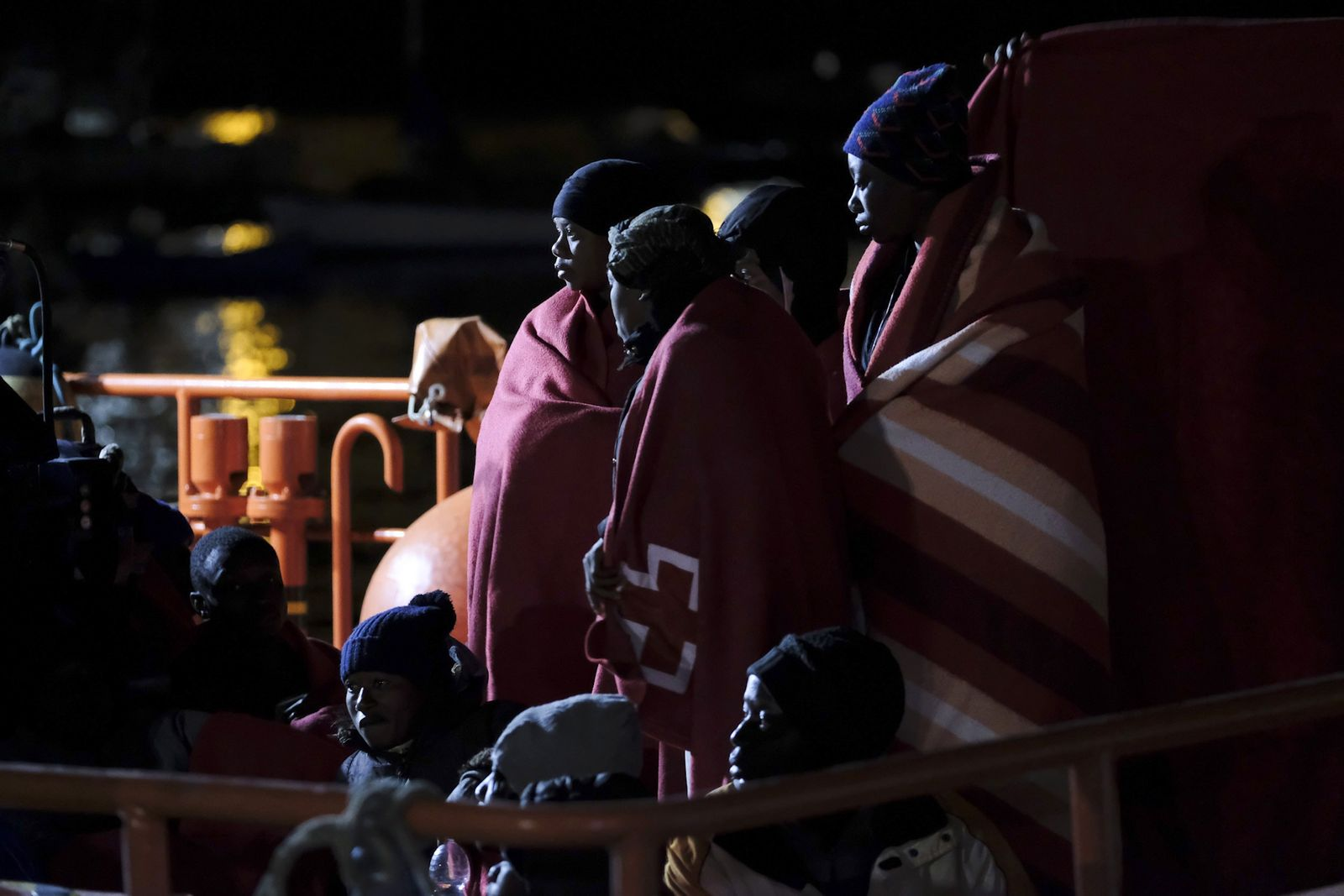 33 Migrants arrive to Gran Canaria, Arguineguin, Spain - 30 Jan 2020