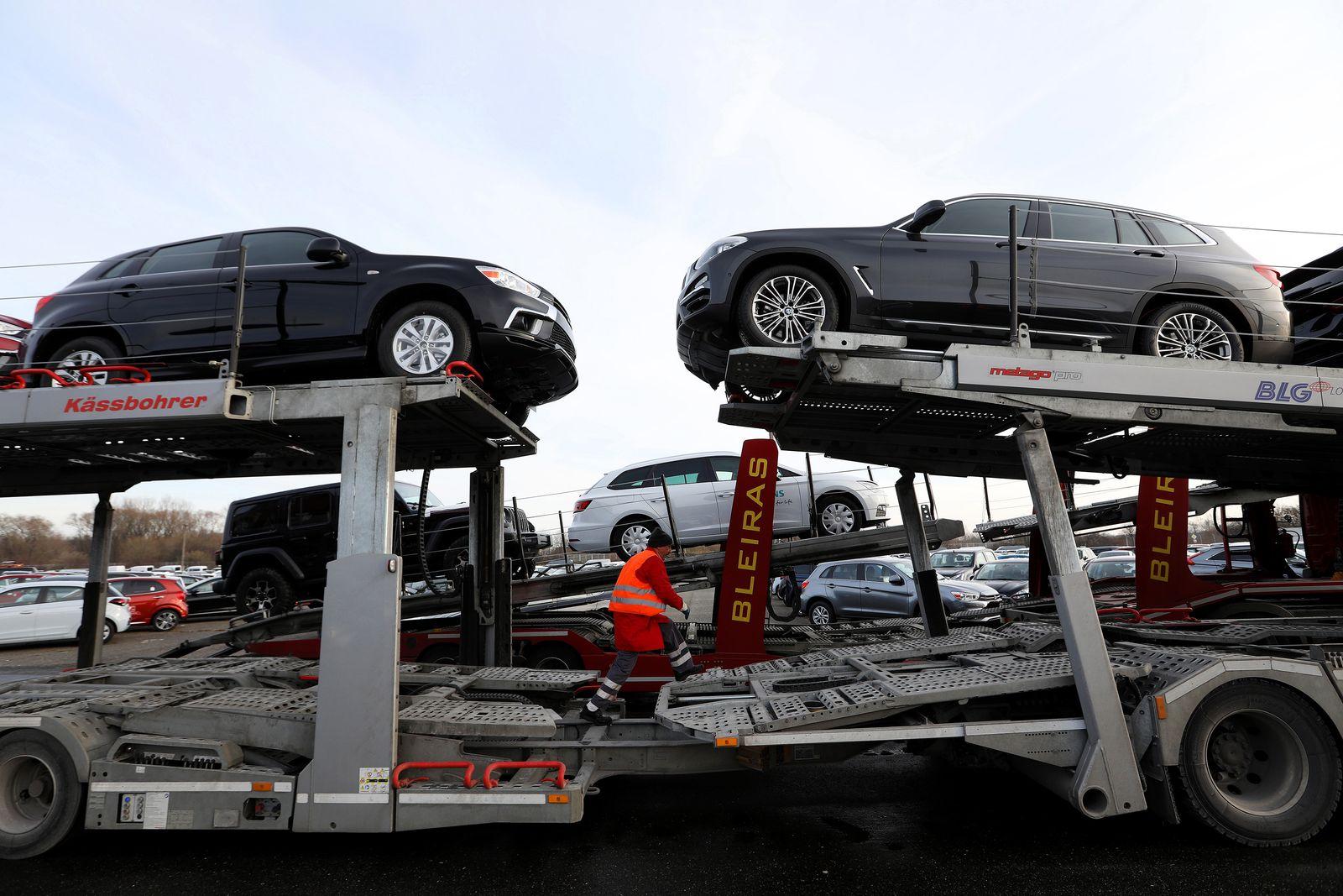 EINMALIGE VERWENDUNG Deutschland Export Autos