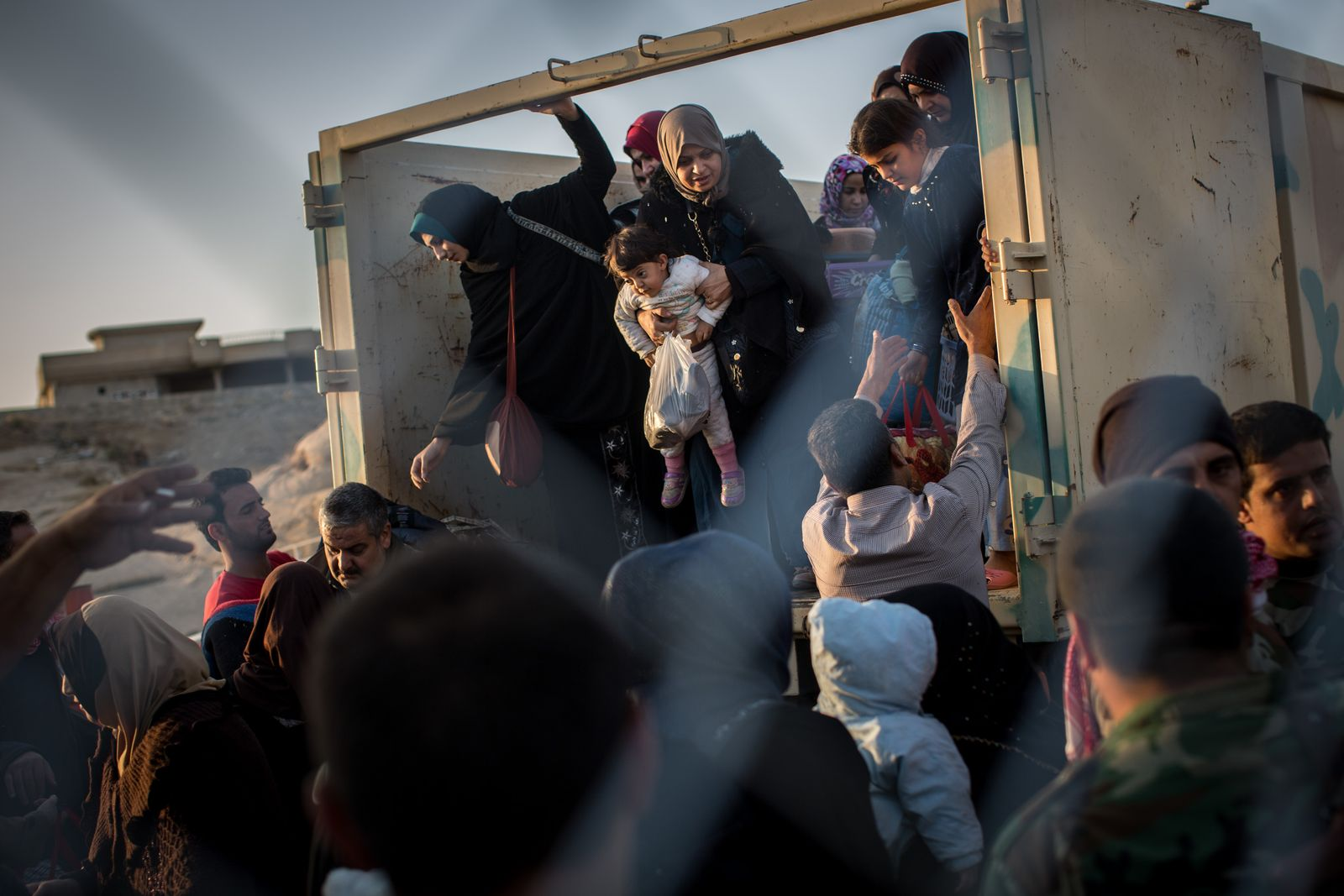 Fleeing Mosul Offensive, Civilians Pour Into Refugee Camps