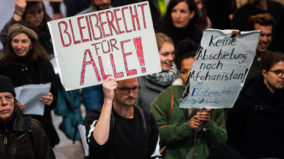 Demonstration am Frankfurter Flughafen