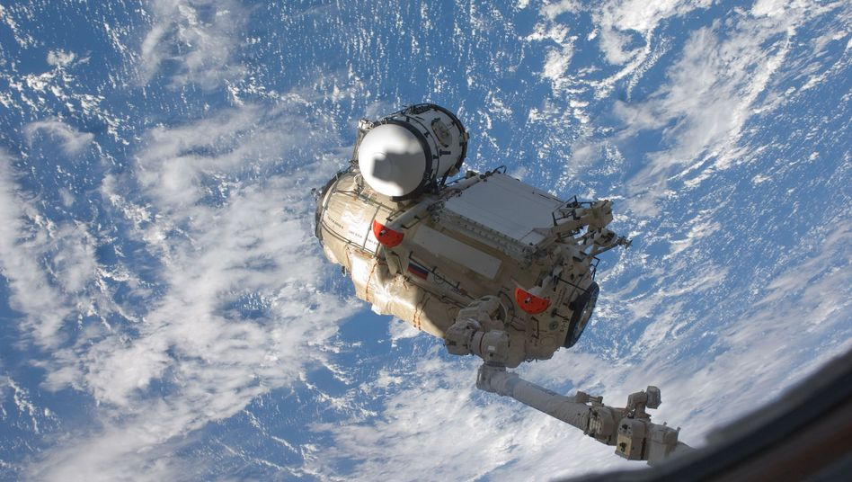 Mai 2010: Russisches Forschungsmodul MRM-1 beim Transport zur ISS