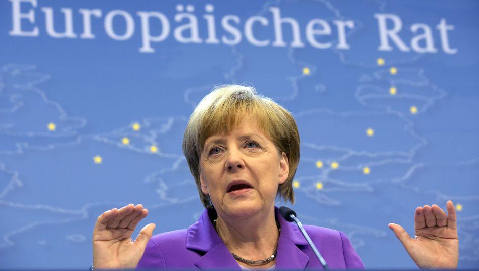 """Kanzlerin Merkel in Brüssel: """"Es können Sanktionen dieser oder jener Stufe sein"""""""