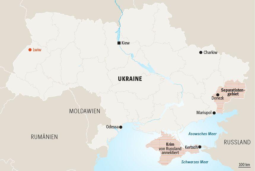 Karte Ukraine Serie Präsidentschaftswahlen Tag 5 NEU!