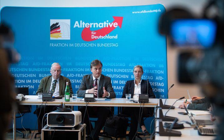 Engere AfD-Fraktionsführung: Alexander Gauland, Bernd Baumann und Alice Weidel