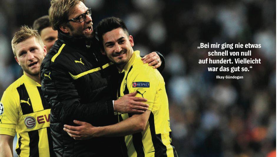 Trainer Klopp, Borussia-Profi Gündogan (r.): Reifeprüfungen absolviert