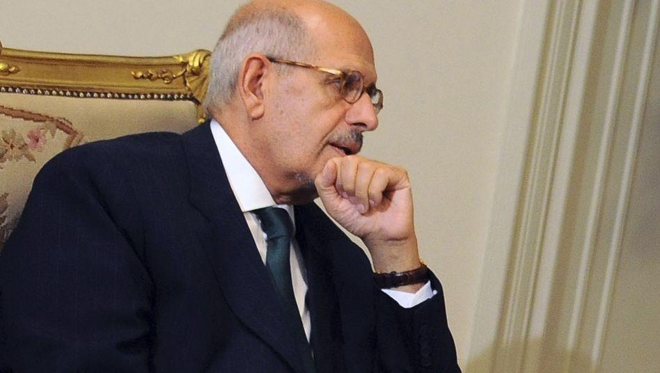 Mohamed ElBaradei bei Treffen mit Präsident Mansur: Widerstand der Salafisten