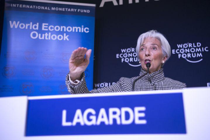 Christine Lagarde im Januar in Davos