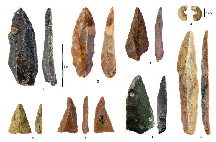 Steinwerkzeuge aus der Karsthöhle Bacho Kiro