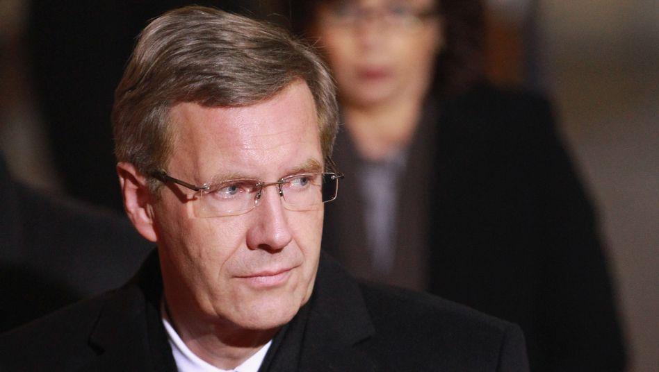 Bundespräsident Wulff beim Staatsakt für Václav Havel in Prag: Unter enormen Druck