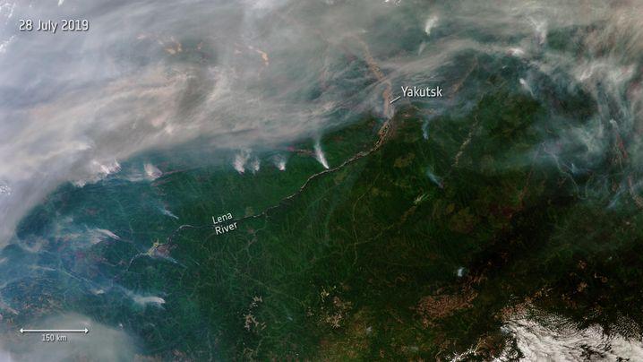 Fluss Lena in Sibirien