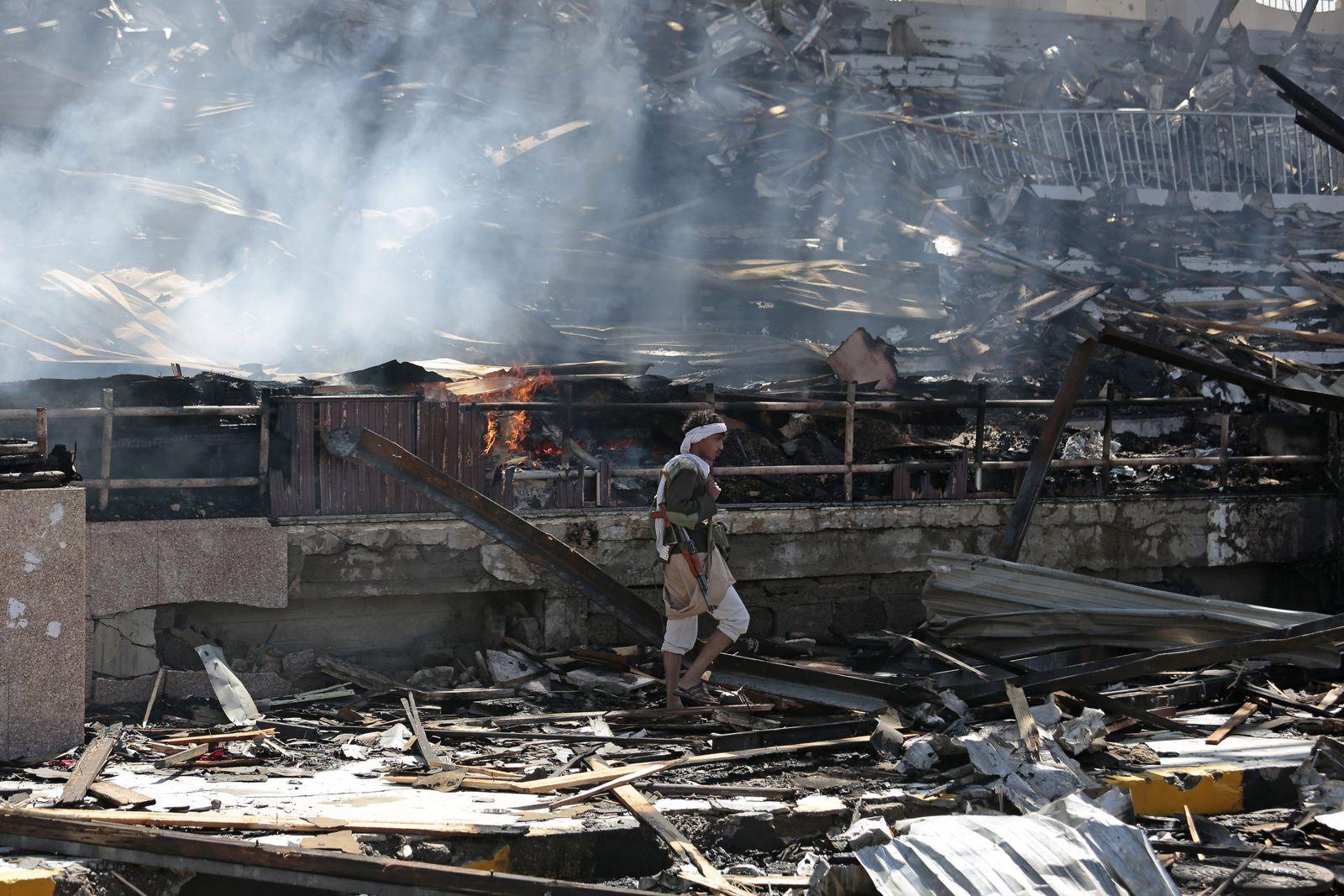 Jemen/ Saudi-arabischer Luftangriff auf Sanaa