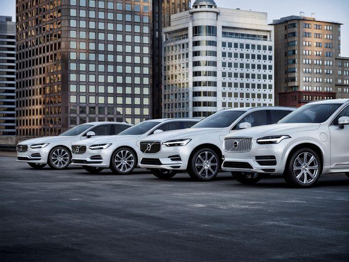 Vom SUV XC90 über den Kombi V90 bis zur Limousine S90 - diese Volvo-Modelle werden bereits mit Plug-in-Antrieb angeboten.
