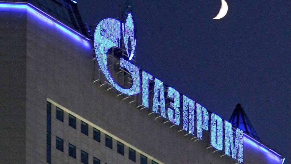 Gazprom-Logo: Auch die Umsätze stiegen um 14 Prozent