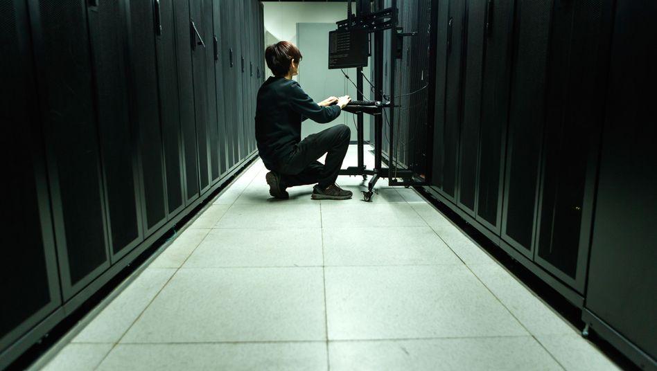 Serverraum in einem chinesischen Datencenter: alles raus, was nicht chinesisch ist