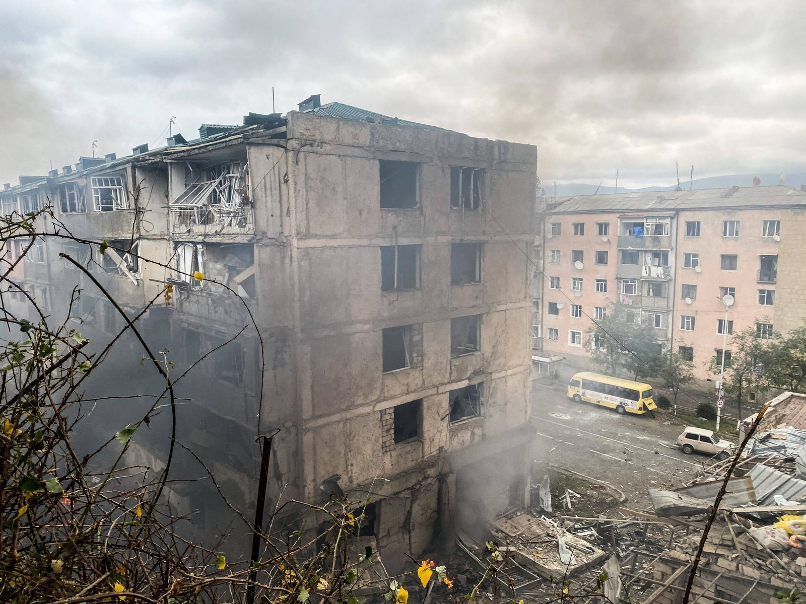 The recent shelling in Stepanakert, the self-proclaimed Republic of Nagorno-Karabakh The recent shelling on October 04,