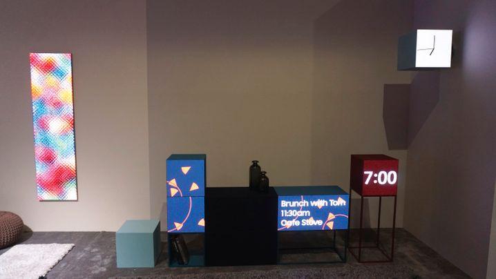 Mit LED-Modulen lassen sich interessante Videoflächen gestalten. Leider gibt es die von Samsung gezeigten Displays nicht zu kaufen