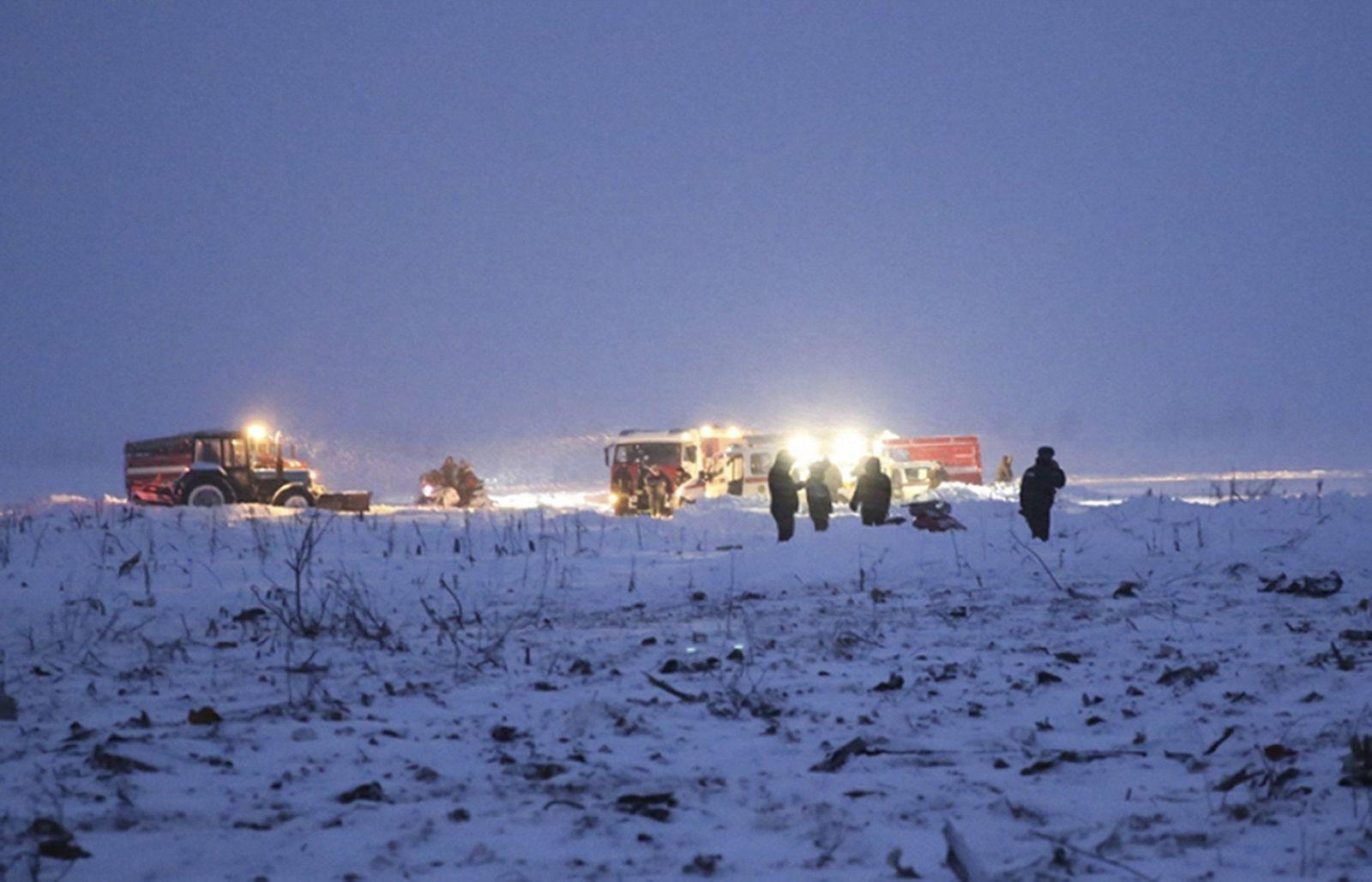 Russisches Passagierflugzeug abgestürzt