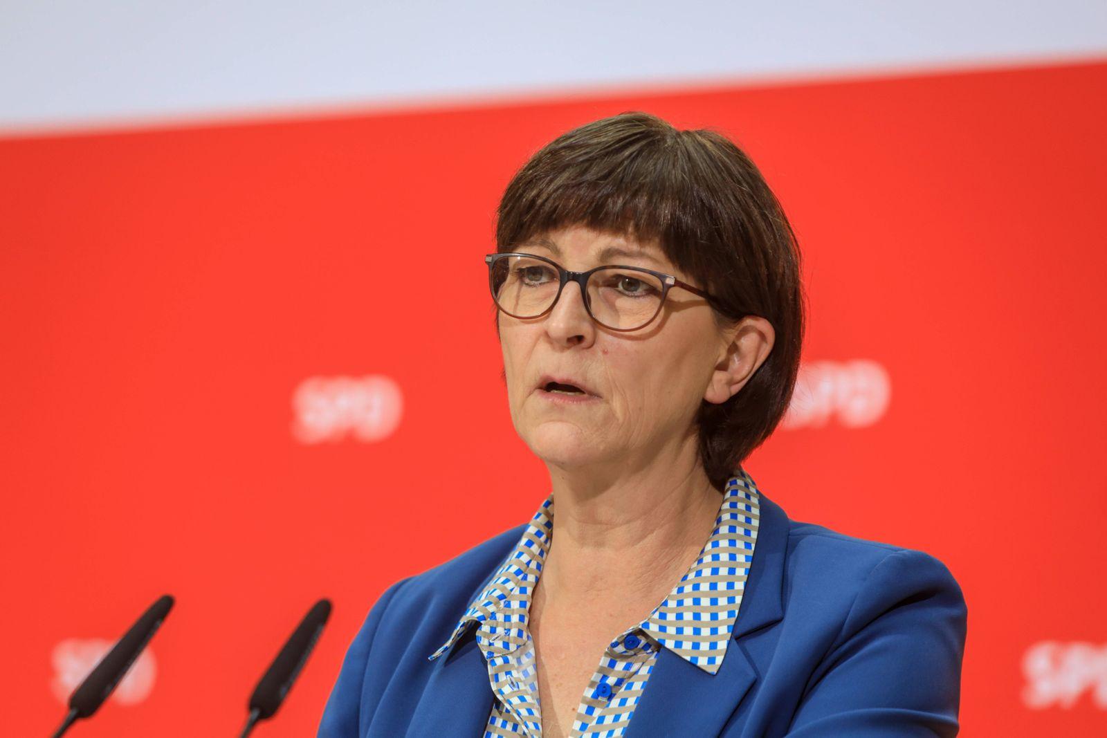 DEU, Deutschland, Berlin, 27.01.2020: Pressekonferenz der SPD-Vorsitzenden im Anschluss an die Sitzung des SPD-Parteivo