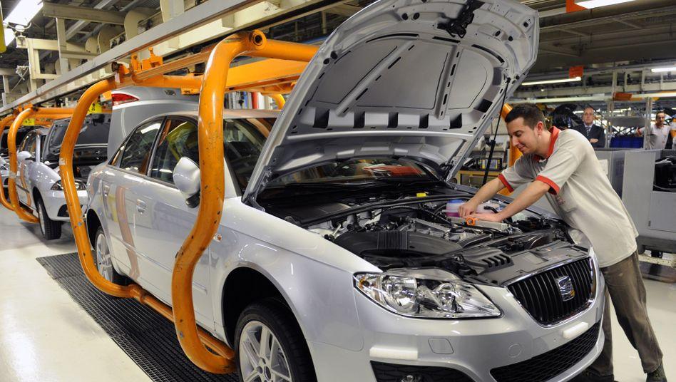 Seat-Produktion bei Barcelona (Archivbild): Spaniens Wirtschaft legt wieder zu