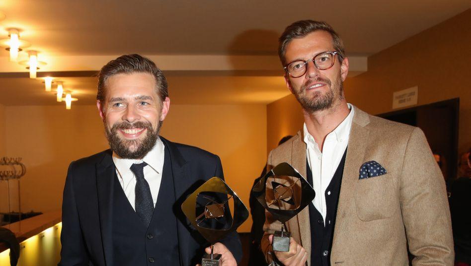 """Klaas Heufer-Umlauf und Joachim """"Joko"""" Winterscheidt 2018 mit Grimme-Preisen"""