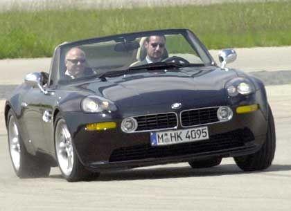Prinz Haakon bei der BMW-Testfahrt