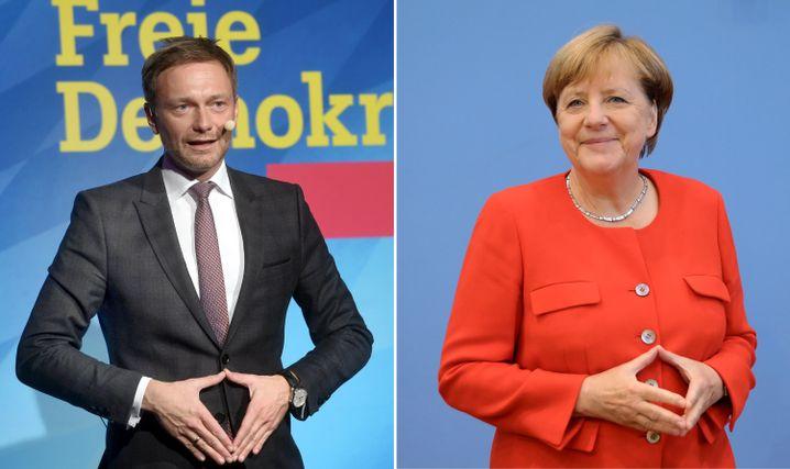 Christian Lindner, Angela Merkel