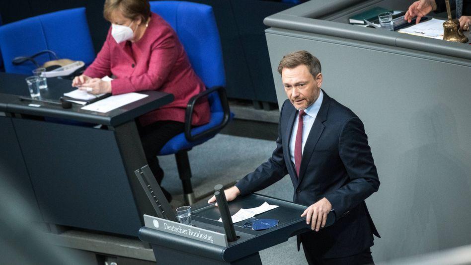 Kanzlerin Merkel, FDP-Fraktionschef Lindner