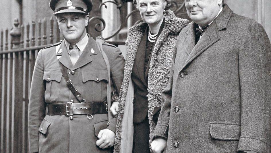 Eltern Churchill, Sohn Randolph um 1940