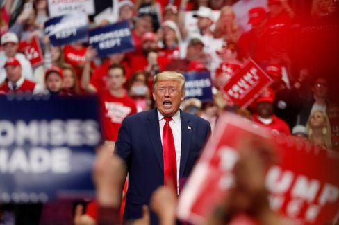 Trump bei einem Wahlkampfauftritt im März (Archivbild)