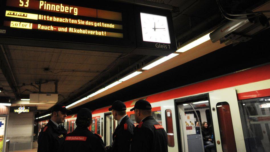 Bahn-Sicherheitsleute (hier bei der S-Bahn Hamburg): 1200-mal attackiert